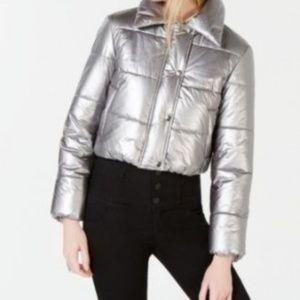 NWT Metallic Puffer Jacket
